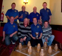 Winning the District Skittles Competition