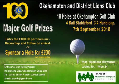 Golf Day Poster 2018