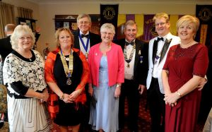 Lion President Michael and Guests including the District Governor of 105SW at the Club 41st Charter Anniversary Dinner